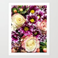 Flower Power Bouquet Art Print