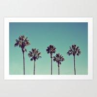 California Palm Trees Art Print