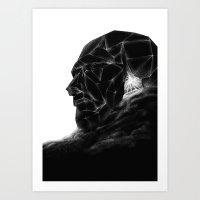 Dune head Art Print