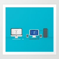 Apple iMac + PC Art Print