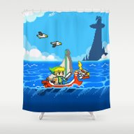 The Legend Of Zelda: Win… Shower Curtain