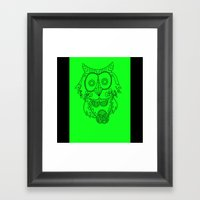 Owl of the Day Framed Art Print