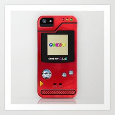Retro Nintendo Gameboy pokedex pokeball iPhone 4 4s 5 5c, ipod, ipad, pillow case tshirt and mugs Art Print
