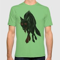 North American Predators - Wolf Mens Fitted Tee Grass SMALL