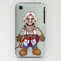 iPhone 3Gs & iPhone 3G Cases featuring Mario's Creed by Kenneth Shinabery
