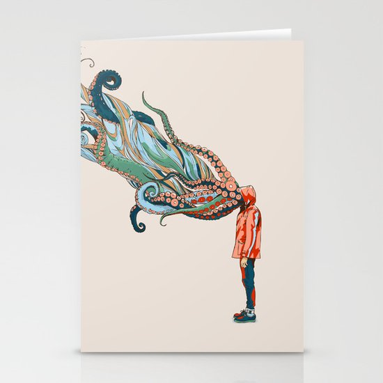 Octopus in me Stationery Card