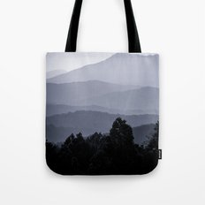 Misty morning at the Smoky's Tote Bag
