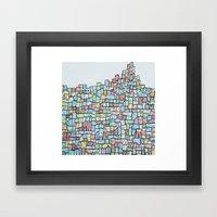 Hill. Framed Art Print