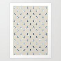 Anchor Pattern Art Print