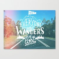 Not Everyone Who Wanders… Canvas Print