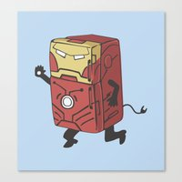 Refrig'r-Iron-Man Canvas Print