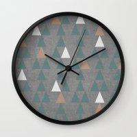 Concrete & Pattern Wall Clock