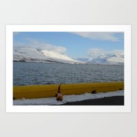 Gnome in Akureyri Art Print