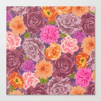 WILDFLOWER: Roses, Chrys… Canvas Print