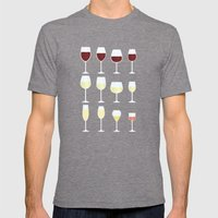 Wine Mens Fitted Tee Tri-Grey SMALL
