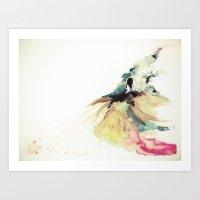 Rainbow Dress Art Print
