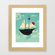 Adrift Framed Art Print