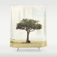 tree hugger::kenya Shower Curtain