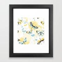 Butterflies In The Garde… Framed Art Print