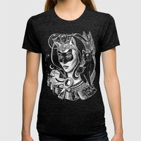 Bastet Womens Fitted Tee Tri-Black SMALL