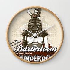 Visit Bartertown! Wall Clock
