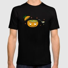 Pineapple Curry Black SMALL Mens Fitted Tee