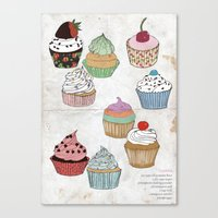 Cupcake dreaming Canvas Print