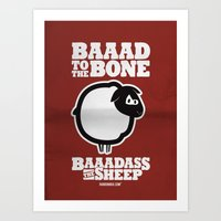 Baaadass The Sheep: Baaa… Art Print