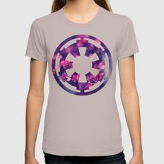 Floral Imperial Cog Womens Fitted Tee Cinder SMALL