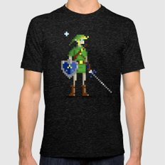 Pixel Link Mens Fitted Tee Tri-Black SMALL
