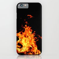 Fire Element Flames Bold Orange Red Yellow Brilliant Color Modern Art Photography iPhone 6 Slim Case