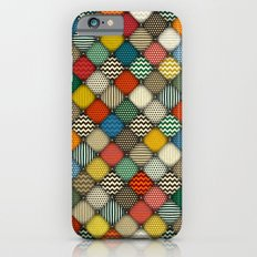 buttoned patches retro Slim Case iPhone 6s