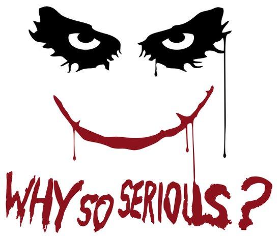 Joker - Why so serious? Art Print