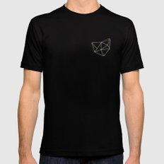 Geo Black Mens Fitted Tee SMALL