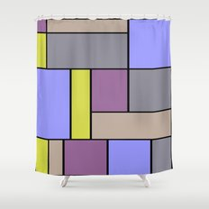 Abstract #19 Shower Curtain