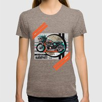 Cretaceous Bones Crew Bike Poster Womens Fitted Tee Tri-Coffee SMALL
