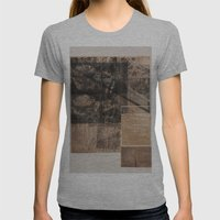 WOOD/PAPER Womens Fitted Tee Athletic Grey SMALL
