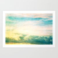 Pastel Abstract Sky  Art Print