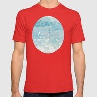 Ocean Palette Mens Fitted Tee Red SMALL