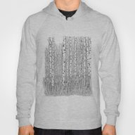 Birch Trees Black And Wh… Hoody