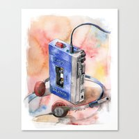Vintage gadget series: Sony Walkman TPS-L2 Canvas Print