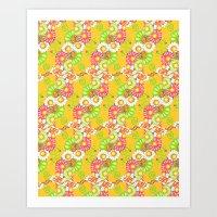 Golden Fields of Daisies Art Print