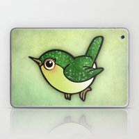 Cute Green Bird Laptop & iPad Skin