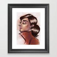 Simply Audrey Framed Art Print