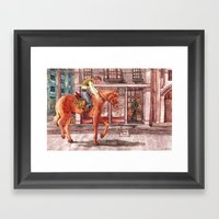 Painful Reminder Framed Art Print