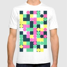 circle square SMALL Mens Fitted Tee White
