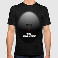 THE DARKSIDE Mens Fitted Tee Tri-Black SMALL