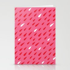 Red + Pink Droplets Stationery Cards