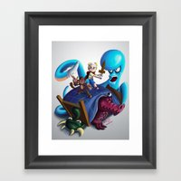 Adventures Of TJ And Skw… Framed Art Print