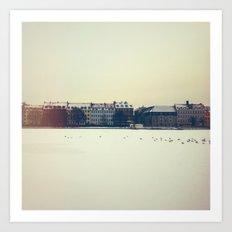 Frozen Lakes, Copenhagen Art Print